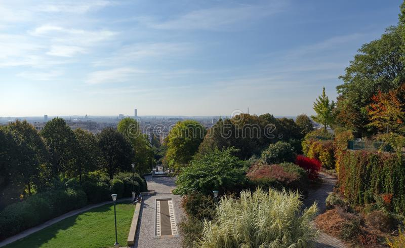 Belleville park w Paryż zdjęcie royalty free