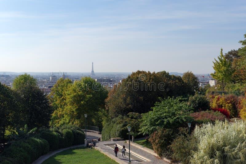 Belleville park w Paryż zdjęcia stock