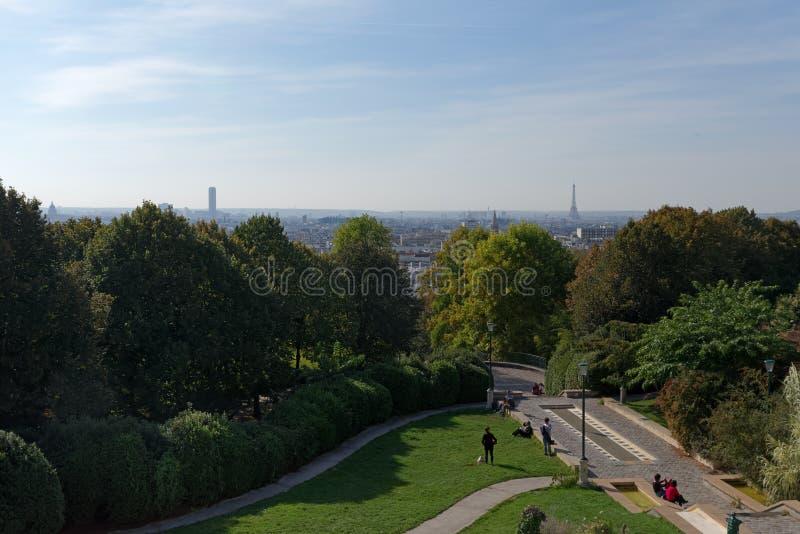 Belleville park w Paryż obrazy royalty free