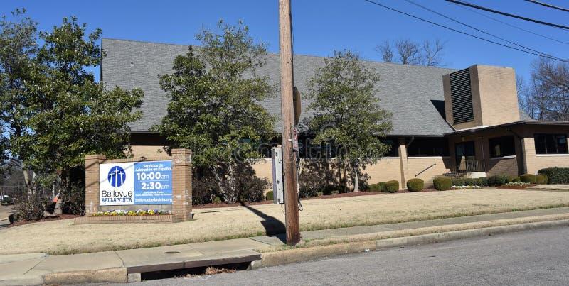Bellevue Bella Vista Church Building, Memphis, TN stockfoto