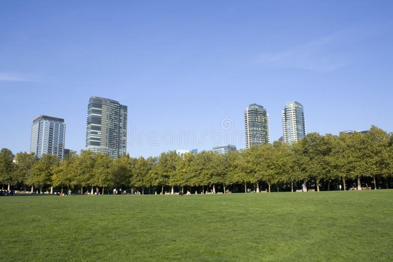 Bellevue city park. Central park of Bellevue City, Washington State stock photo