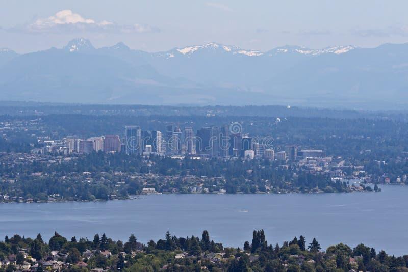 Bellevue e Seattle imagens de stock royalty free