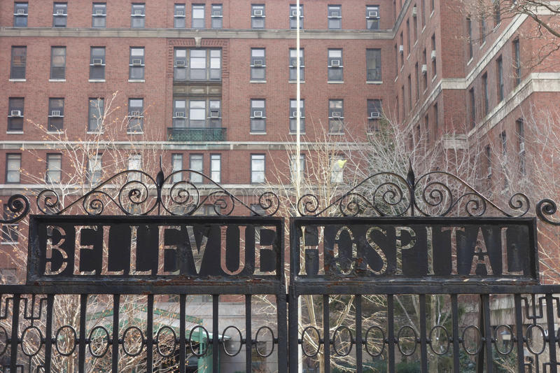 Bellevue Hospital. Center, in New York City, the oldest public hospital in the United States. It was founded in 1736 stock images