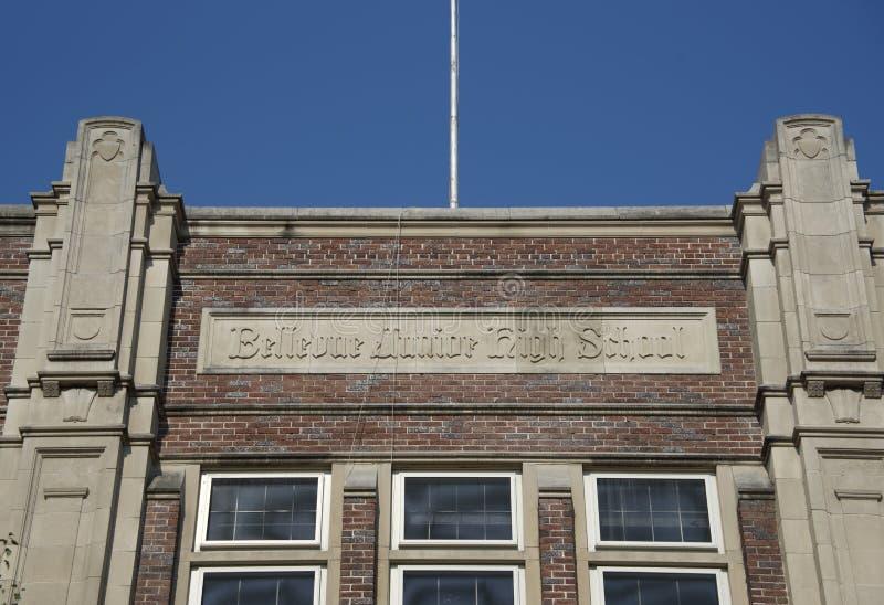Bellevue Junior High School, Memphis, Tennessee fotografía de archivo libre de regalías