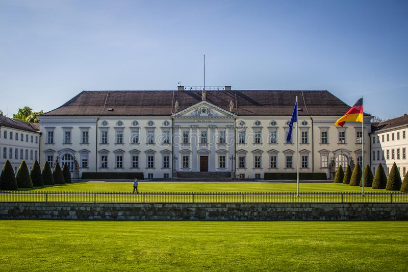 Bellevue palace Berlin, official residence of german Federal President stock image