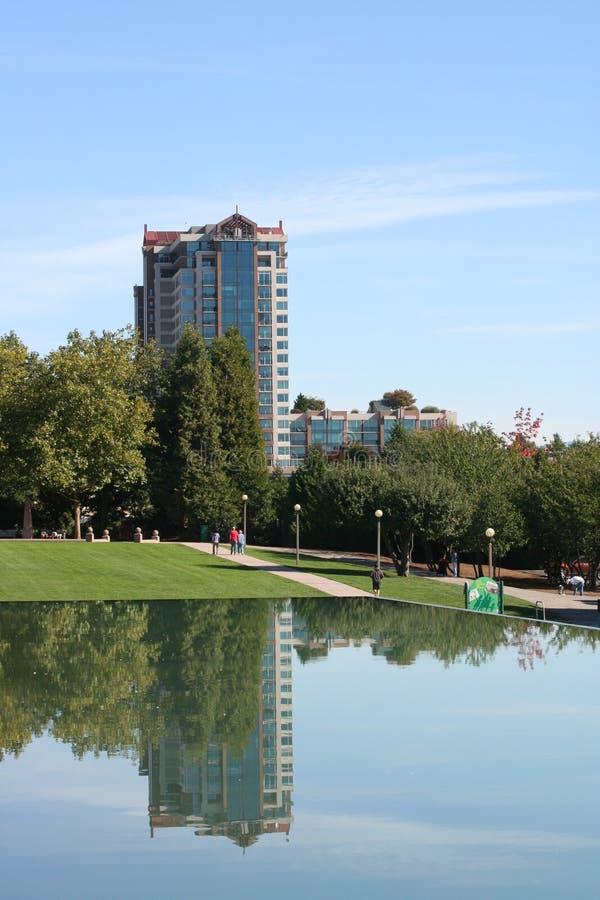 Bellevue van de binnenstad Washington Park stock fotografie