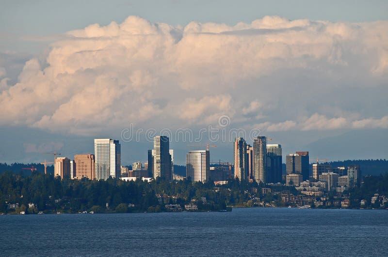 Bellevue, Washington. Across Lake Washington from Seattle stock image