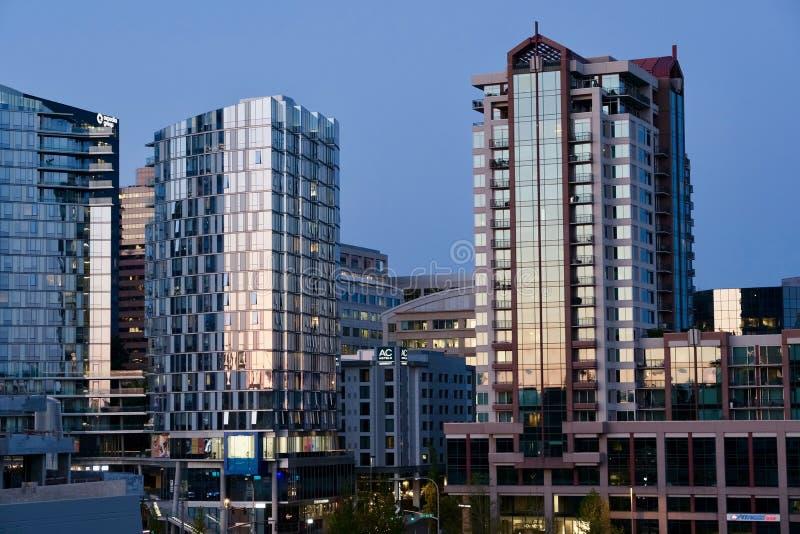 Bellevue, Washington. Urban city scape view of Bellevue, Washington stock photography