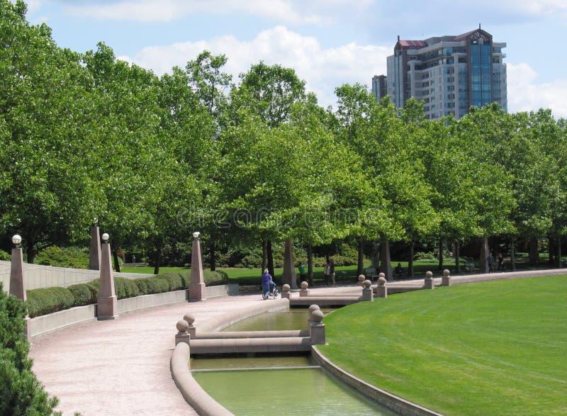 bellevuestadspark royaltyfri bild
