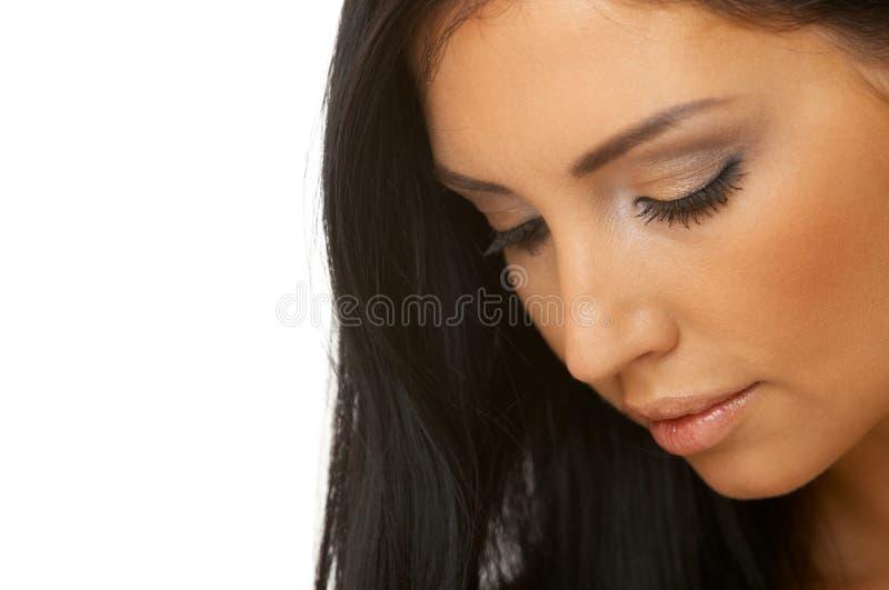 Belleza cabelluda negra foto de archivo