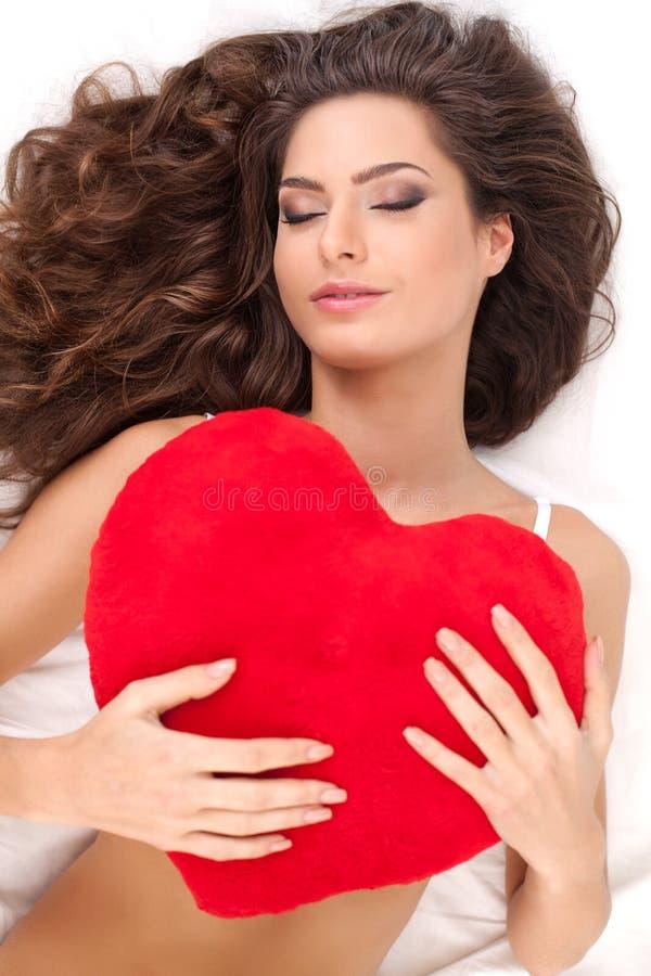 Belleza con el corazón. foto de archivo