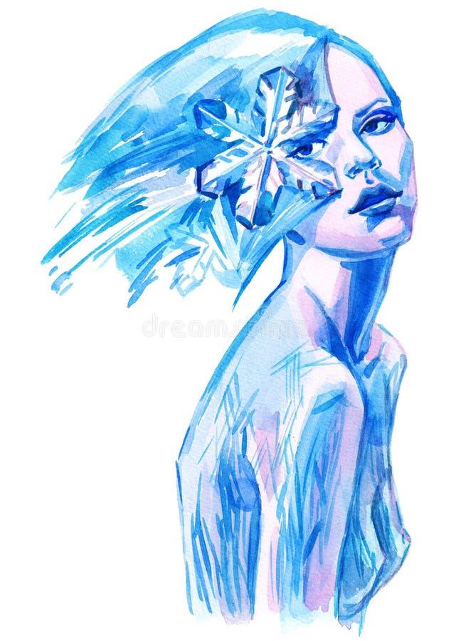 Belleza congelada stock de ilustración