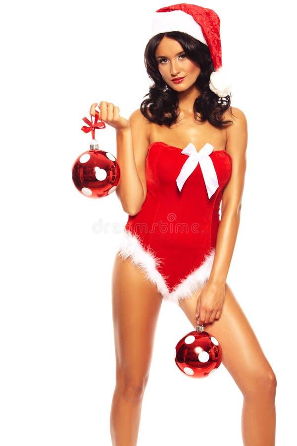 Belleza de la Navidad en el fondo blanco fotografía de archivo libre de regalías