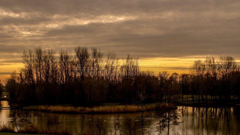 Belleza de la puesta del sol imagen de archivo