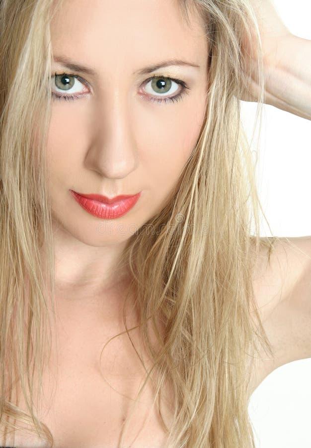 Belleza de ojos verdes bochornosa fotos de archivo libres de regalías