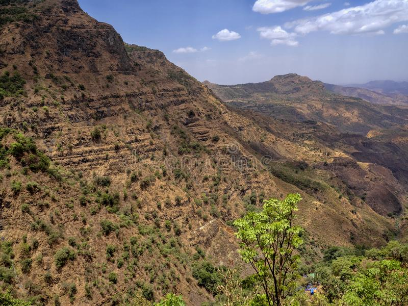 belleza de un paisaje montañoso en Etiopía septentrional fotos de archivo libres de regalías