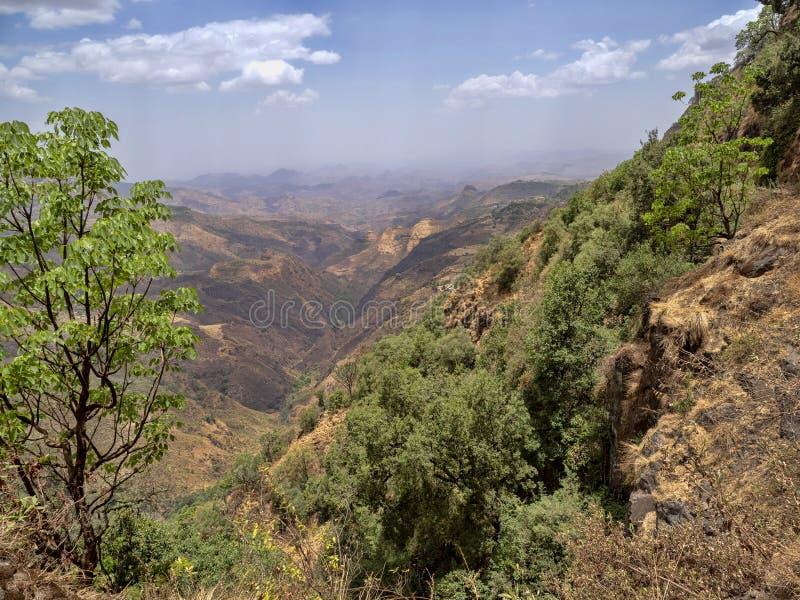 Belleza de un paisaje montañoso en Etiopía septentrional imagen de archivo libre de regalías