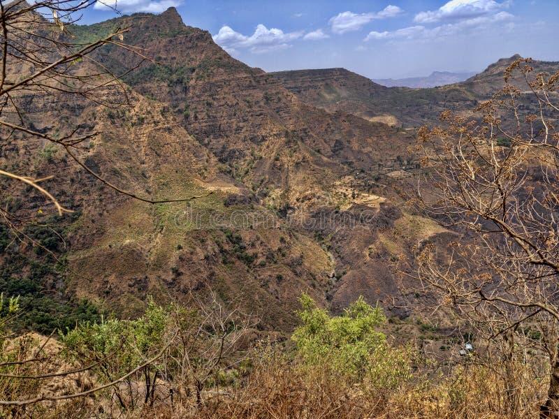 Belleza de un paisaje montañoso en Etiopía septentrional imagenes de archivo