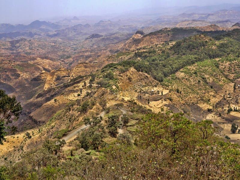 Belleza de un paisaje montañoso en Etiopía septentrional foto de archivo libre de regalías