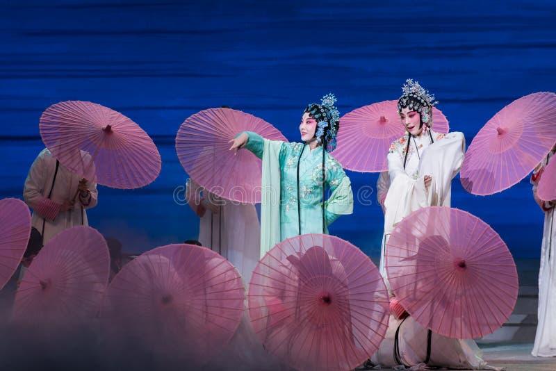 """Belleza del  blanco de Opera""""Madame Snake†del lago-Kunqu del oeste fotos de archivo"""