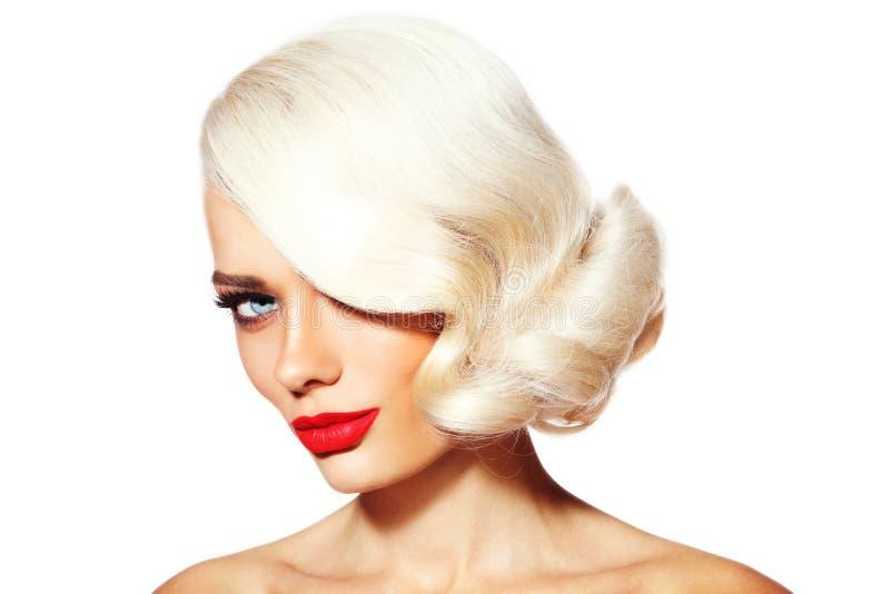 Belleza del blonde del platino fotos de archivo libres de regalías