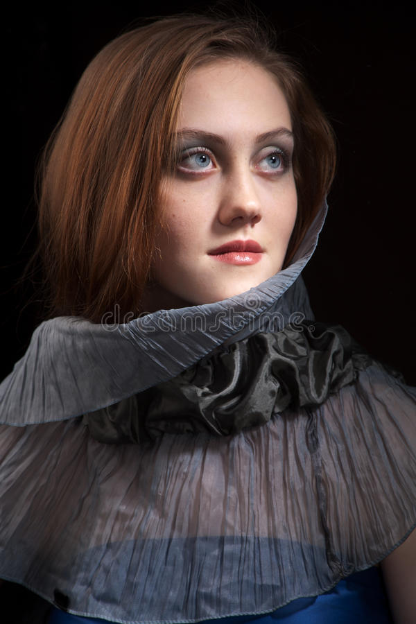 Belleza del Redhead imagenes de archivo