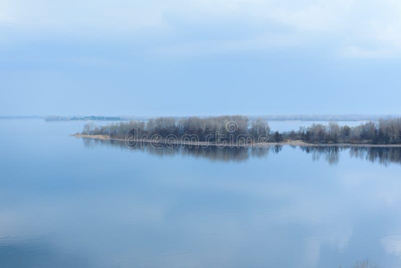 Belleza del Samara de Volga del río de la naturaleza fotografía de archivo