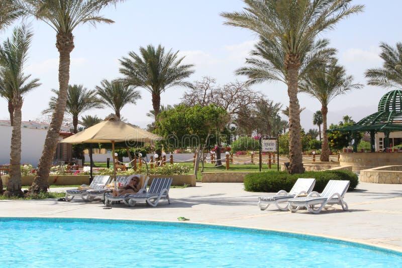 Belleza en el hotel Egipto fotografía de archivo