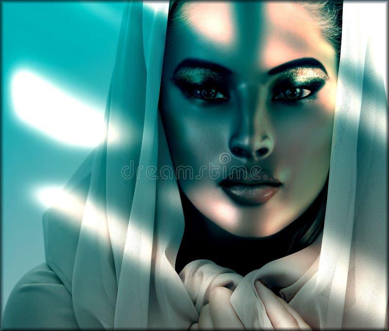 Belleza en las sombras stock de ilustración