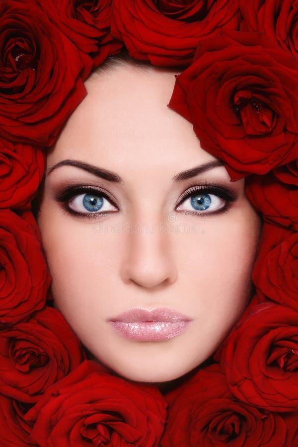 Belleza en rosas fotos de archivo