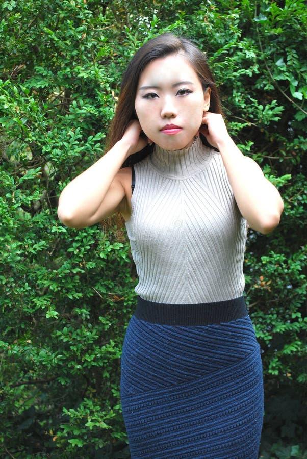 Belleza femenina asiática imágenes de archivo libres de regalías