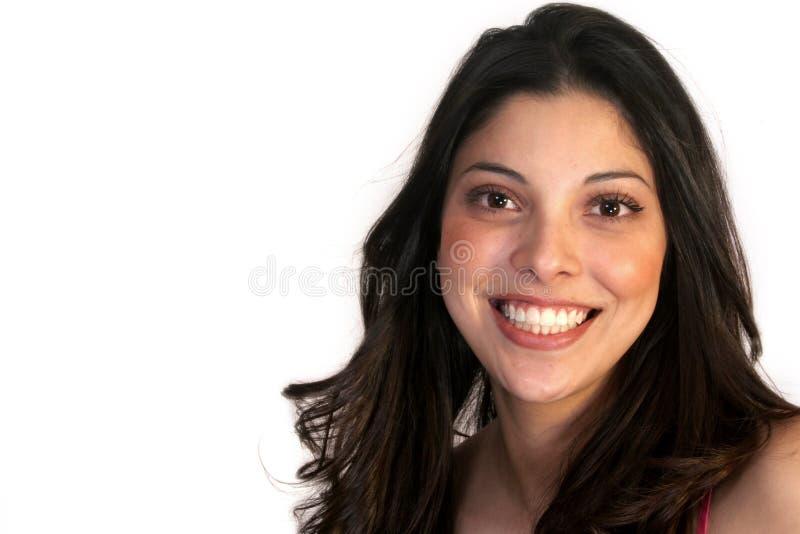 Belleza hispánica sonriente imágenes de archivo libres de regalías