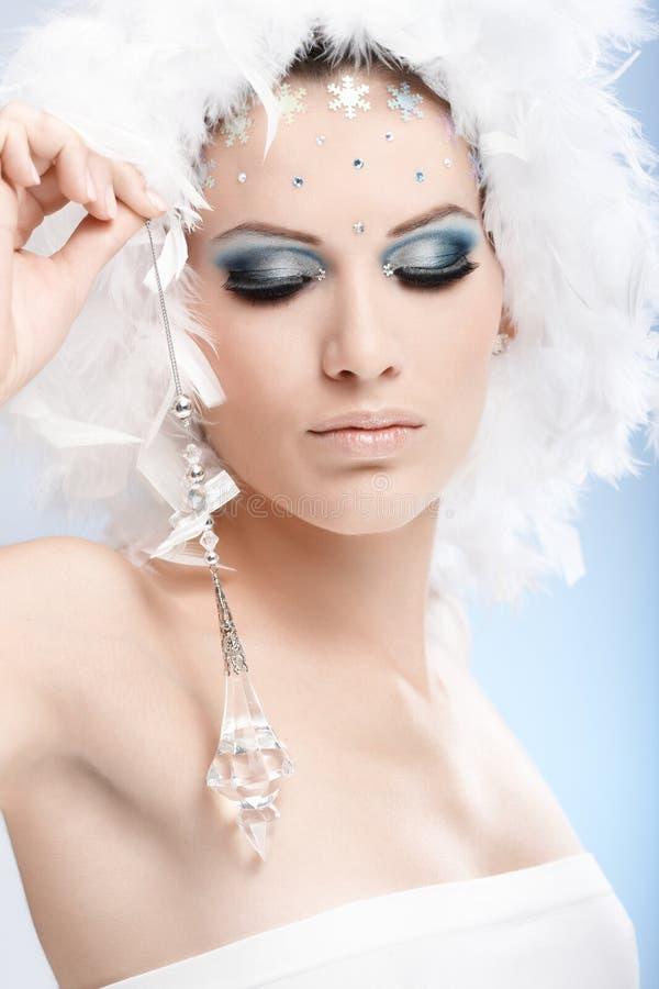 Belleza lujosa del invierno con la joya cristalina fotografía de archivo libre de regalías