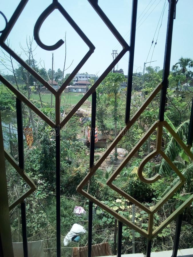 Belleza natural capturada por mí de mi ventana del sitio foto de archivo libre de regalías