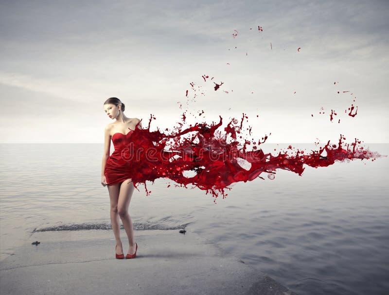 Belleza roja imagen de archivo libre de regalías
