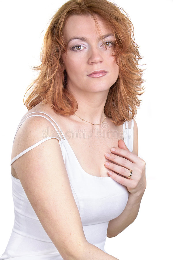 Belleza roja del pelo foto de archivo libre de regalías