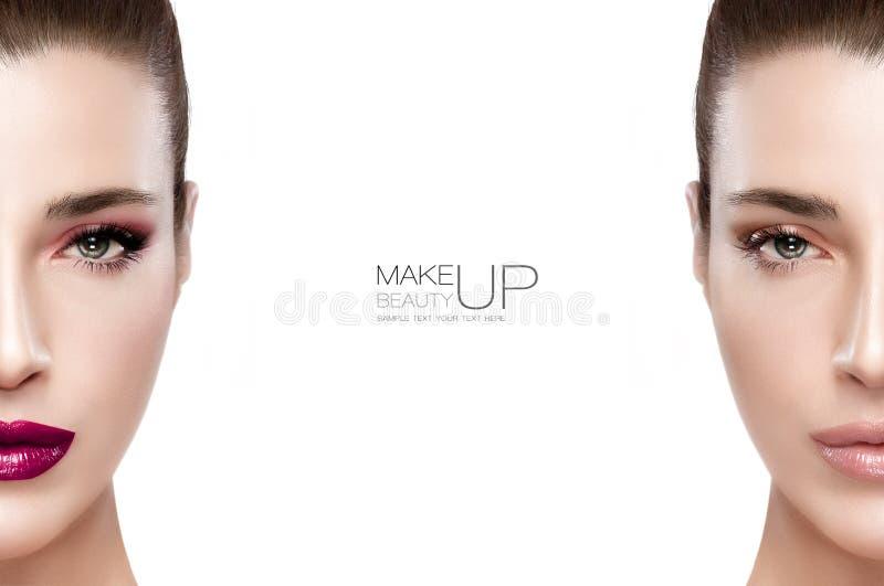 Belleza y concepto del maquillaje foto de archivo libre de regalías