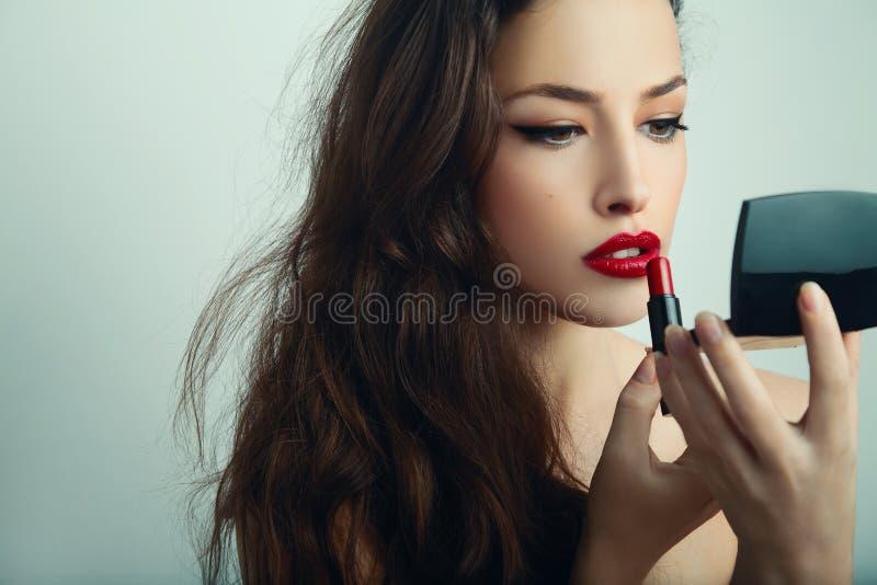 Belleza y maquillaje foto de archivo libre de regalías