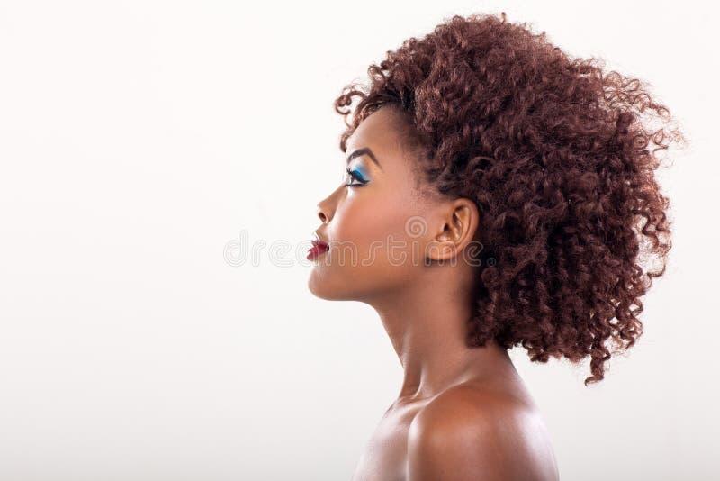 Bellezza africana della donna fotografia stock