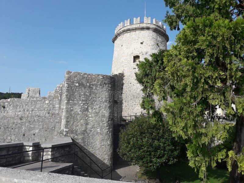 Bellezza antica del castello di Trsat fotografia stock libera da diritti