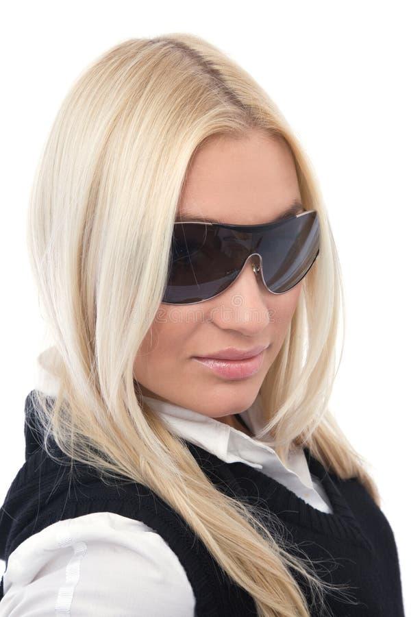 Bellezza con i sunglass fotografia stock libera da diritti