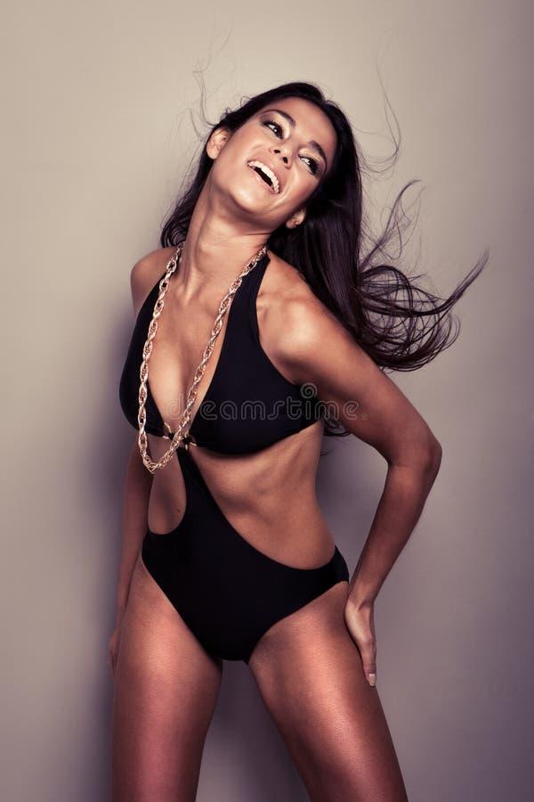 Bellezza Curvaceous di Flirtaceous fotografia stock