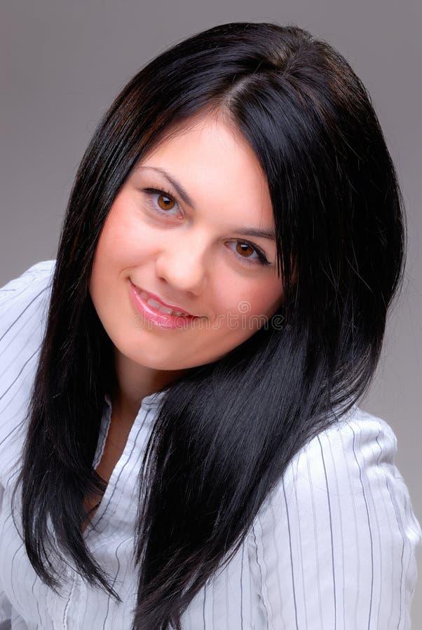 Bellezza dei capelli neri immagini stock libere da diritti