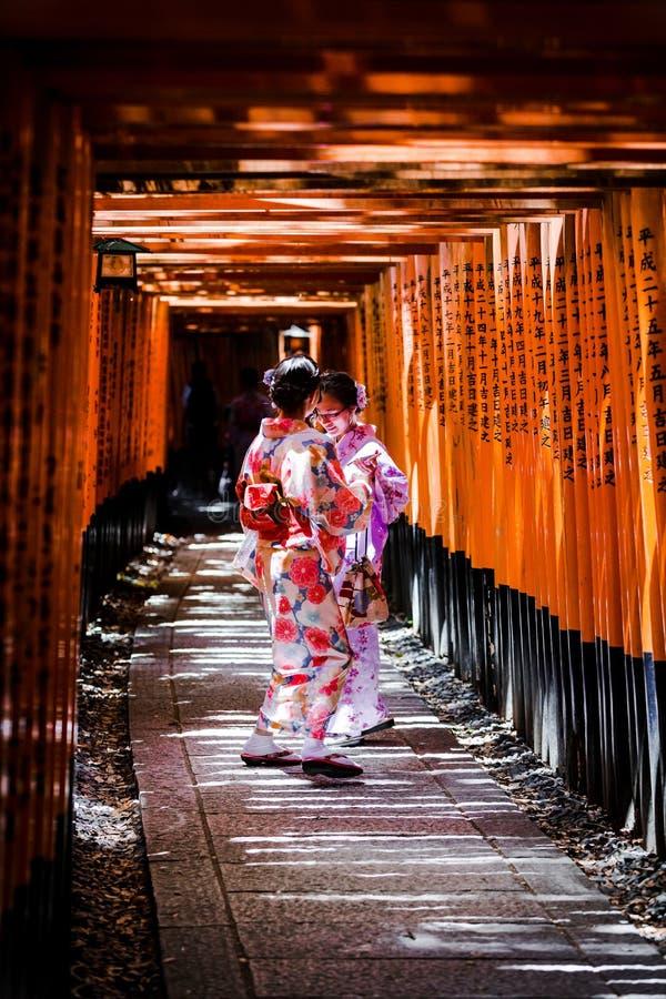 Bellezza del kimono di Kyoto fotografie stock