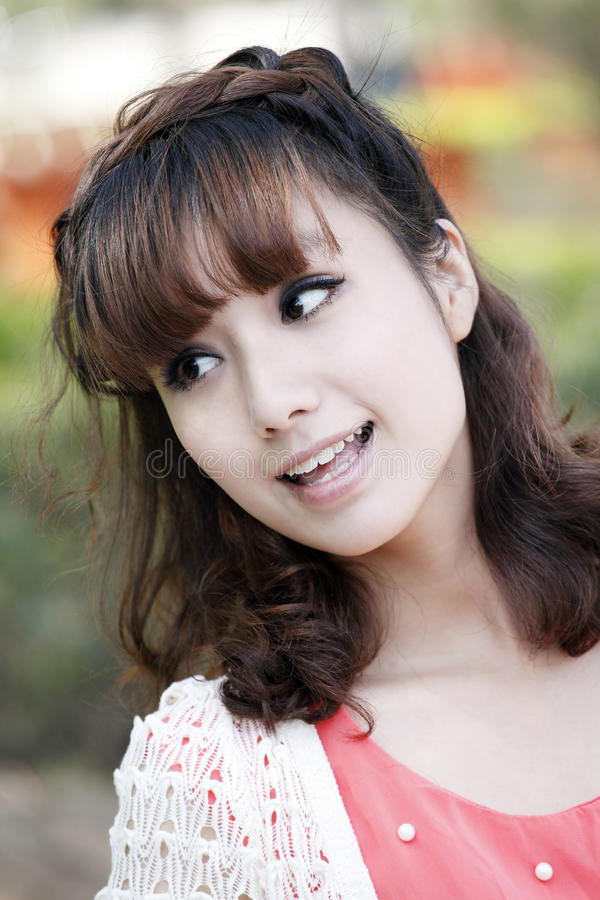 Bellezza dell'Asia fotografia stock