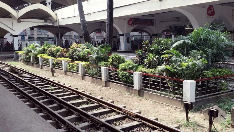 Bellezza della stazione ferroviaria fotografie stock