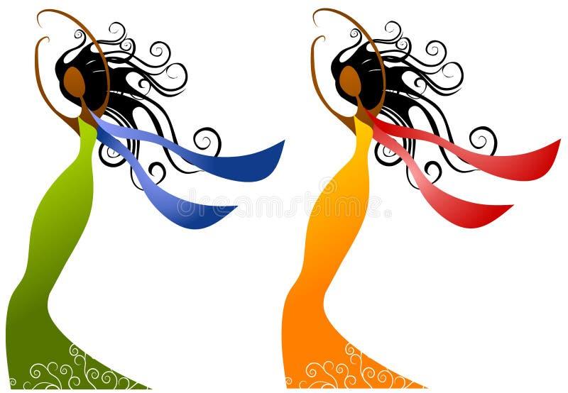Bellezza delle donne dell'afroamericano illustrazione di stock
