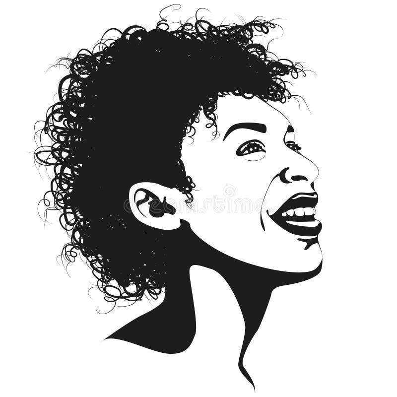 Bellezza di afro royalty illustrazione gratis