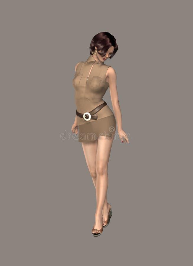 Download Bellezza di Digitahi illustrazione di stock. Illustrazione di cute - 3876533