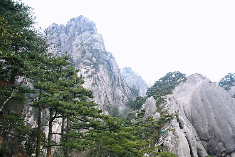 Bellezza di Huangshan del supporto fotografie stock